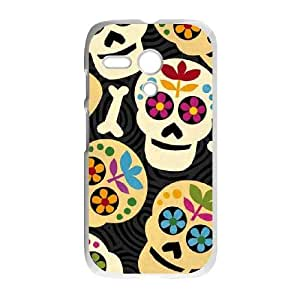 Black Background with Skeletons Motorola G Cell Phone Case White DIY gift pp001-6406257
