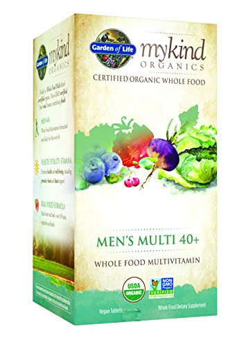 Life 120 Tabs (Garden of Life Multivitamin for Men - mykind Organic Men's 40+ Whole Food Vitamin Supplement, Vegan, 120 Tablets)