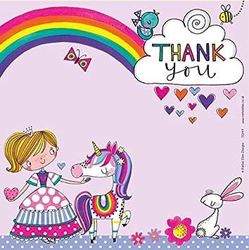 Rachel Ellen Designs – Notas de agradecimiento – Princesa y Unicornio (Pack de ...