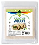 NUCO Certified ORGANIC Paleo Gluten Free Coconut Wraps, 5 Count (One Pack of Five Wraps)