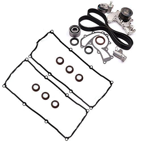 ECCPP Timing Belt Water Pump Kit Valve Cover Gasket,Automotive Replacement Parts Fits 98-04 Honda Isuzu 3.2 3.5 6VD1 6VE1 Timing Belt Kit Water Pump -