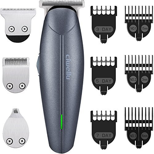 Beard Trimmer Kit USB Rechargeable Hair Clippers Cordless body Grooming Trimmer Kit of Mustache Trimmer ,Hair Cutting Trimmer with 7 Blade Combs for man Stubble groomer by Ciwellu -