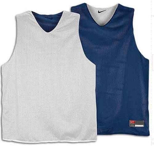 Nike Basketball Reversible Navy & White Mesh Tank Men's Extra Large (Reversible Jersey Nike)