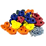 20 Deluxe Extra Large Assorted Rock Climbing Holds with Installation Hardware for up to 1″ Installation – Swing Set Accessories