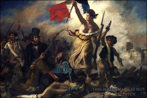 Liberty Leading the People, by Eugene Delacroix, c.1830 Poster