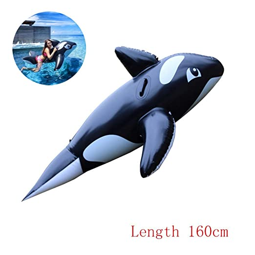 Swim Party Toys Balsa Inflable 160Cm Ballena Negra Agua Sofá ...