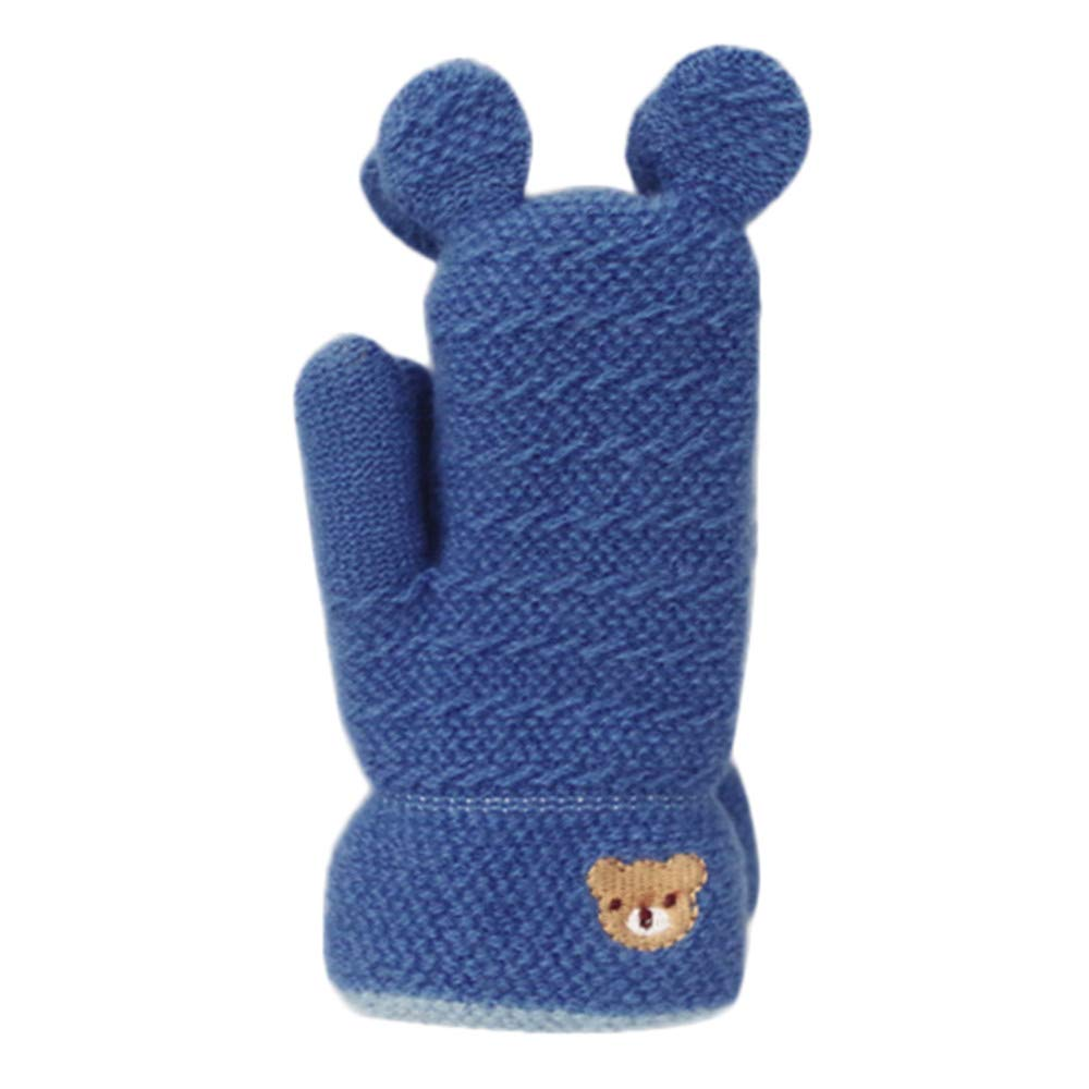 Hirolan Fäustlinge Gloves Mode Super süß Kleinkind Baby Niedlich Verdicken Stitching Unisex Mädchen Jungen Von Winter Warm Handschuhe (2-8 Jahre) 1 Paar)