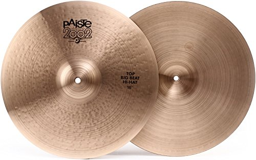 Paiste 2002 Black Big Beat Hi-hat Cymbals - 16