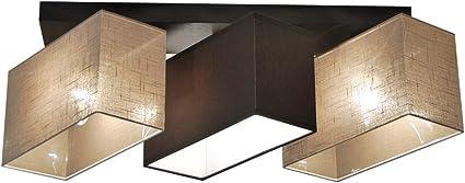Deckenlampe Hausleuchten Jls3162d Deckenleuchte Leuchte Schlafzimmer Wohnzimmer Kinderzimmer Lampe Kuche 3 Flammig Holz Amazon De Beleuchtung