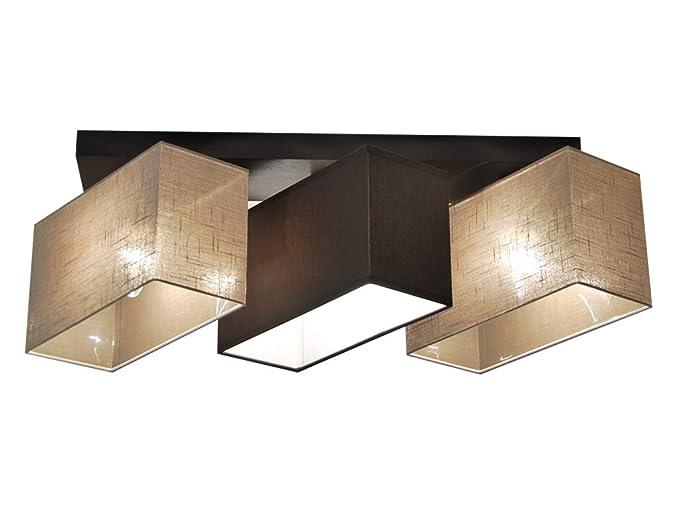 Plafoniere Da Salotto : Plafoniera illuminazione a soffitto in legno massiccio jls3162d