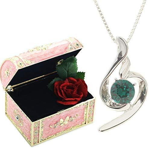 [スポンサー プロダクト][デバリエ] 5月誕生日プレゼント 女性 人気 彼女 母 贈り物 ネックレス レディース 贈り物 セット品(オルゴール1組 ネックレス1組) ラッピング付y441-jp(eme)