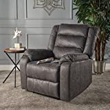 Adelande Cushioned Slate Microfiber Power Recliner