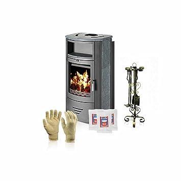 Estufa para quemar madera Victoria 05, modelo Marinela K, salida de calor 12 kW + accesorios de regalo: Amazon.es: Bricolaje y herramientas