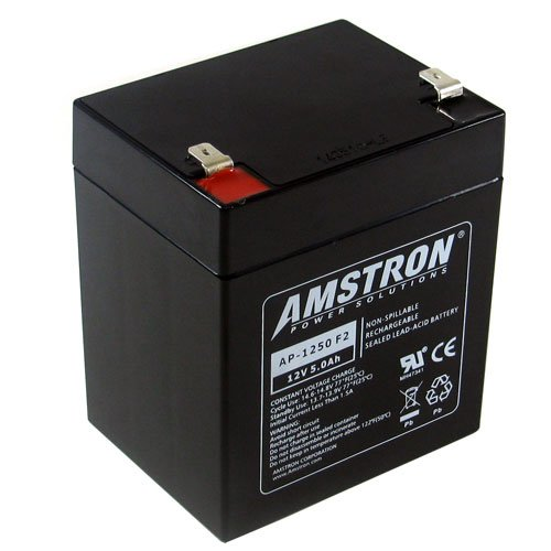 Amstron 12V/5AH Sealed Lead Acid Battery w/ F2 Terminal AP-1250F2