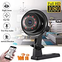 Oenbopo Wireless Mini WIFI IP Camera HD 1080P Smart Home Security Camera Night Vision Motion Detection
