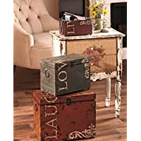 Rustic Coffee Table Trunk Sets Accent End Tables Furniture Stores | For Indoor Coffe Home Decor Living Room Bedroom Bed Tables Office | Metal Designer Earthy Tones Vintage Finishes Inside