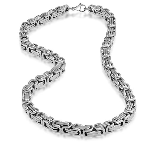 Stainless Steel Silver Necklace Masculine