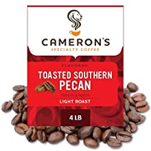 Cameron's Coffee Roasted Whole Bean Coffee, Flavored, Toasted Southern Pecan, 4 Pound