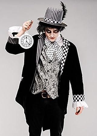 Magic Box Disfraz de Sombrerero Loco Negro gótico Adulto para ...