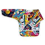 Ecoable Art Smock for Kids - Long Sleeve Bib or Paint Smock for Kids (Large 4-6 Years, Ahoy)