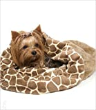 Giraffe Cuddle Cup Bed for Dogs by Susan Lanci