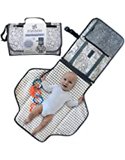 Suessie Portable Nappy Changing Mat - Waterproof Change Mat with Clutch - Travel Changing Pad Organizer - Baby Changing Kit with Bonus Loop for Toys - BPA Free