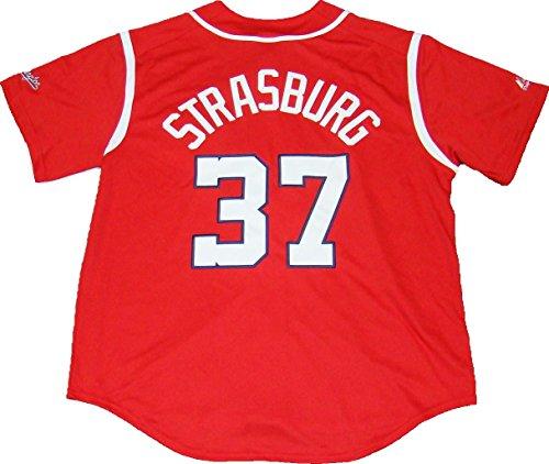 Washington Nationals Stephen Strasburg #37 Alternate Men's Jersey by Majestic (Large)