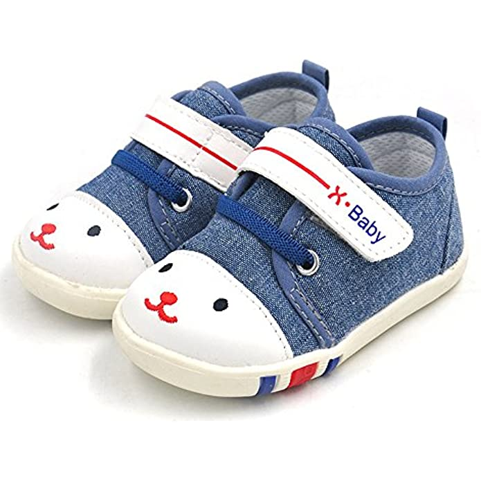 HLMBB Baby Shoes Sneakers Infant for Girls Boys for Walking Tennis Canvas Blue Pink Toddler