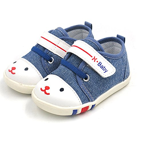 HLM Baby Shoes For Women Babies Girl Boys Sneakers Canvas Casual Blue Pink Gray 6 12 24 Months Size 4 5 6 7 8 9 10 11 (Size 5.31