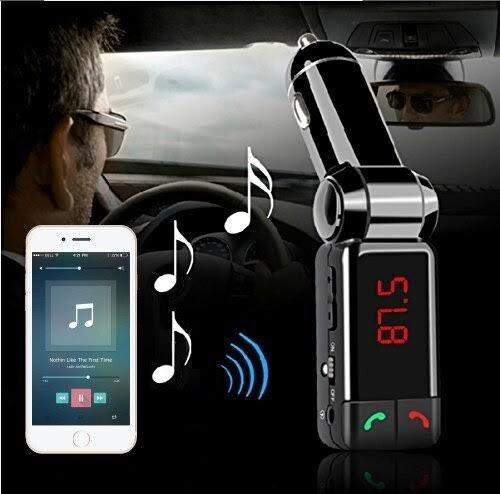 MMOBIEL Kit Ricarica per Auto con Porta 5V//2A Senza Mani Bluetooth Radio FM trasmettitore Wireless con Ricevitore Controllo Musica audo Sistema Lettore Carta Presa 3.5 mm AUX Stereo Lettore MP3