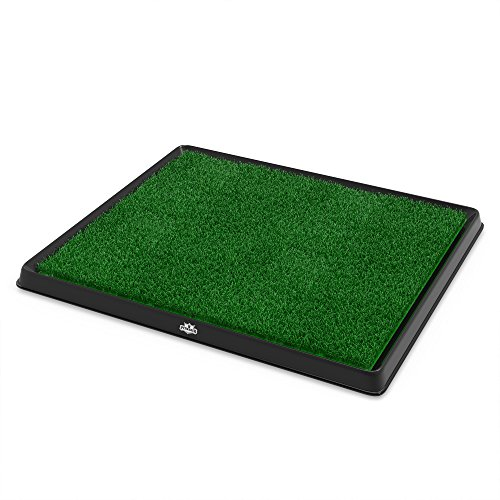 Large Product Image of Artificial Grass Bathroom Mat for Puppies and Small Pets- Portable Potty Trainer for Indoor and Outdoor Use by PETMAKER- Puppy Essentials, 20