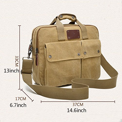 Bag Casual Canvas Green Bag Laptop Big Crossbody Bag Bag Bag Computer Zip Messenger Messenger Men Aiyil 4zgfwq8w
