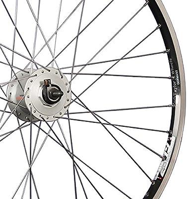 Taylor-Wheels 26 Pulgadas Rueda Delantera Bici ZAC19 Dinamo buje Negro/Plateado: Amazon.es: Deportes y aire libre