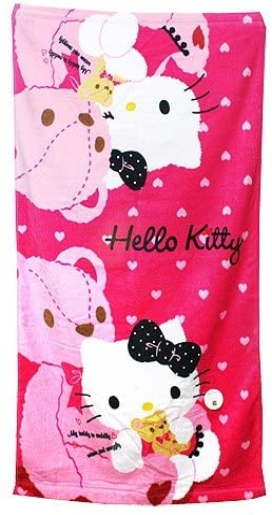 Hello kitty Lovely Towel set Brand NEW 2pcs 31.5X15.7 100/% cotton bath shower