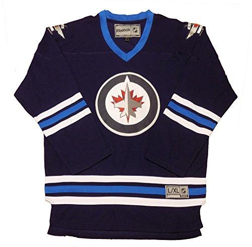 OuterStuff Winnipeg Jets Navy Premier Team Logo Home Men's Jersey (Large/X-Large)