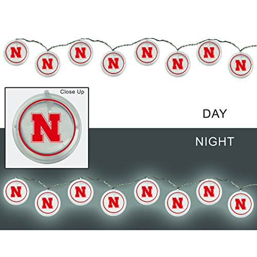 - Team Sports America University of Nebraska Outdoor Safe Battery Powered String Light Set