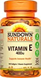 Sundown Naturals Vitamin E 400 IU Di-Alpha, 100 Synthetic Softgels