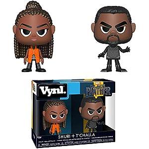 51SmiyjYBeL. SS300 Shuri + T'Challa: Black Panther x Funko Vynl. Vinyl Figure Set + 1 Official Marvel Trading Card Bundle [34967]