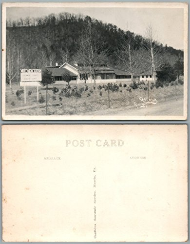 WILLIAMSPORT PA LYCOMING COUNTY CAMP KIWANIS ANTIQUE REAL PHOTO POSTCARD -