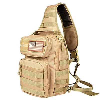 NOOLA Tactical Sling Bag Pack Military Rover Shoulder Sling Backpack Molle Assault Range Bag EDC Bag Day Pack Small with Padding Pocket