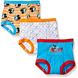 Disney Toddler Boys' Mickey Mouse 3pk Training Pant, (Colors may vary) Assorted, 2T