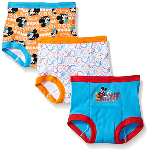 Disney Baby Boys' Toddler' Mickey Mouse 3pk Training Pant, ((Colors may vary) Assorted, 3T