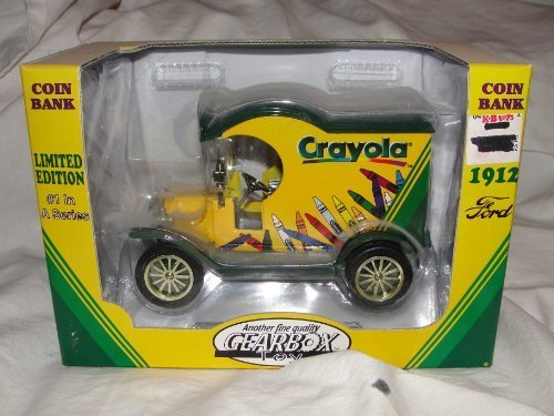 1998 Ltd Ed Crayola Gearbox 1912 Ford Delivery Truck #1 Die Cast Bank
