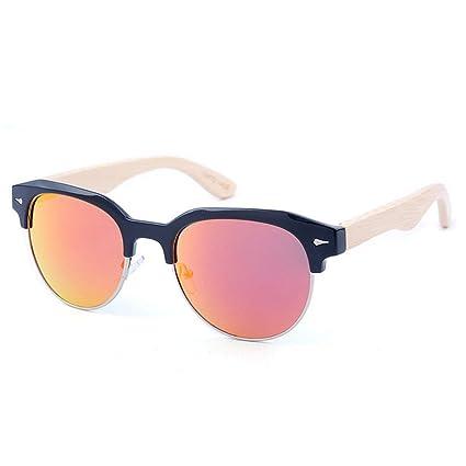 Gububi De múltiples Fines Gafas de Sol de bambú polarizadas semirreflejo Semi-sin Montura para