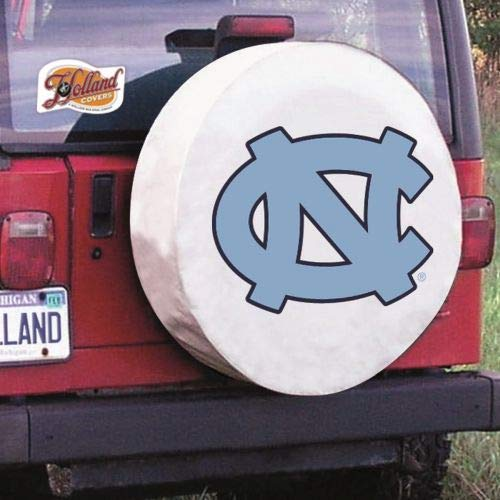 Holland Covers TCSMNorCarWT White 28 1/2 x 8 Spare Tire Wheel Cover (North Carolina for Jeeps RV or Trailer - Exact Fit)