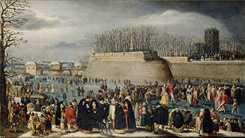 Costumes Carnaval Nature (High Quality Polyster Canvas ,the Imitations Art DecorativePrints On Canvas Of Oil Painting 'Alsloot Denis Van Mascarada Patinando O El Carnaval Sobre El Hielo De Los Fosos De La Kipdorppoort En Amberes Ca. 1620 ', 24 X 42 Inch / 61 X 108 Cm Is Best For Foyer Decor And Home Gallery Art And Gifts)