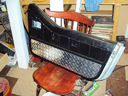 JEEP DIAMOND PLATE 1987-1995 POLISHED LIKE CHROME OFF-ROAD INNER INTERIOR DOOR PANEL COVERS ()