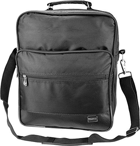Custodia alalal al lavoro, da uomo, spalla borsa Messenger Bag borsa a tracolla da uomo nero, supporto per biglietti da visita