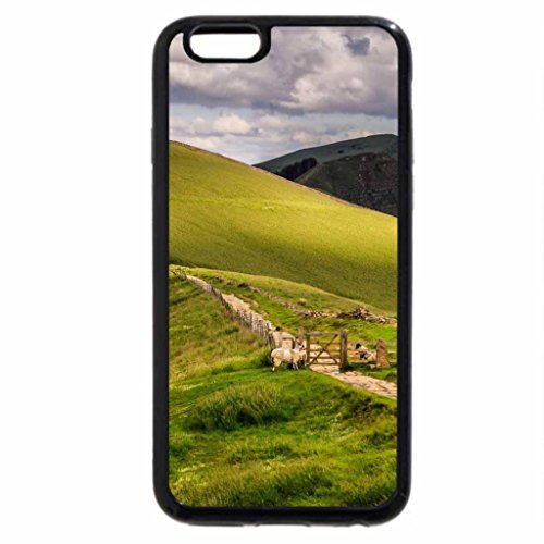 iPhone 6S / iPhone 6 Case (Black) path through hilly sheep pasture in england