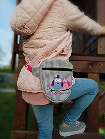 B/úhos Owls HAPPY OWLS COLLECTION ri/ñonera bolsa de cadera con cremallera decorativa  imitaci/ón de gamuza Modelo 2018